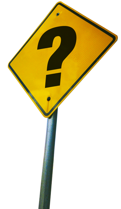 image of a sign with a question mark